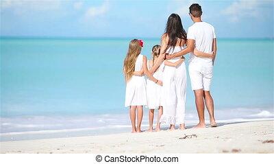 plage, antilles, jeune famille, vacances