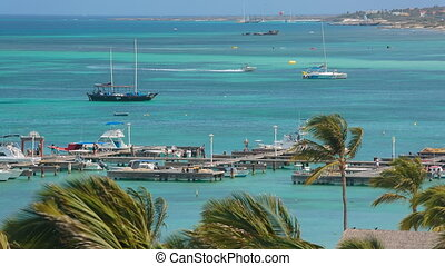 plage, aruba, attraction touristes