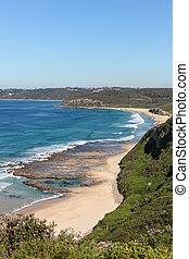 plage, australie, -, burwood, newcastle
