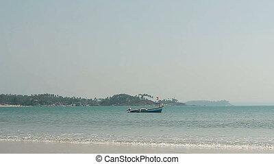 plage, bateau pêche