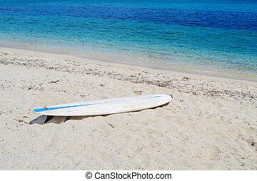 plage blanche, planche surf