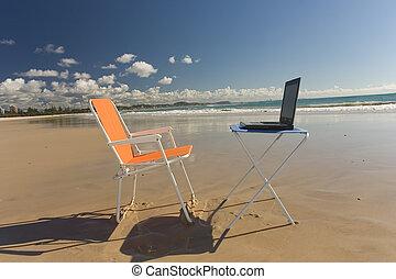 plage, bureau