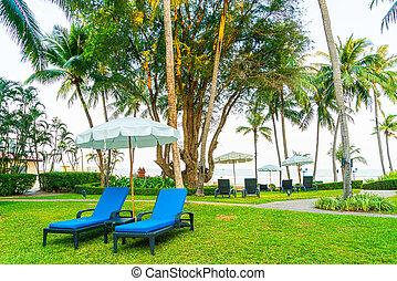 plage, chaise jardin