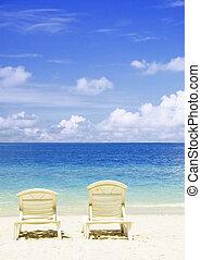 plage, concept, chaise, photo