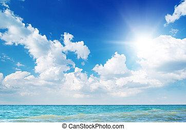 plage, day., côte, composition., nature, beau