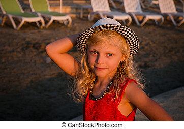 plage, enfant