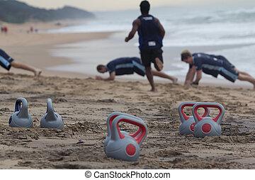 plage, fitness