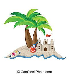 plage, illustration