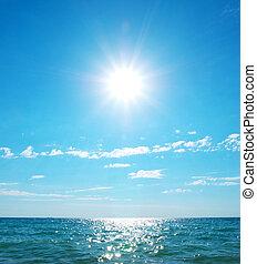plage, jour, côte