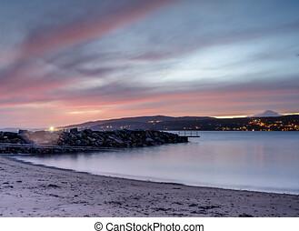 plage, krokstrand, vestby, fils, scandinavie, norvège, europe, oslofjord, municipality, viken