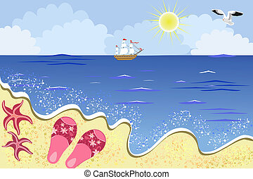 plage, mer