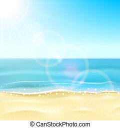 plage, mer, sablonneux