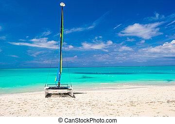 plage, nautisme, antilles, catamaran, coloré