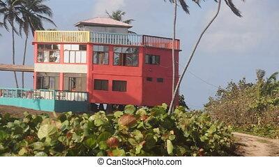 plage, nicaragua, maison, coloré