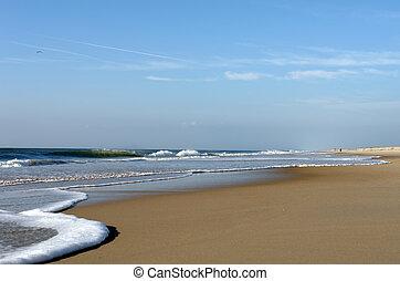 plage, océan atlantique