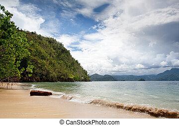 plage, paradis