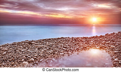 plage, paysage, beau