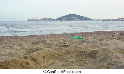plage., problems., écologique, déchets ménagers