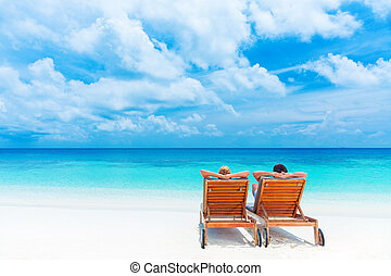 plage, relaxation