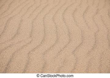 plage sable, mer, ondulations, gauche