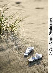 plage., sandales