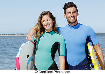 plage, surfer, amis, conseils, surfeur