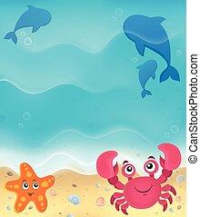plage, thème, 5, image