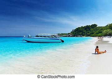 plage, thaïlande, exotique