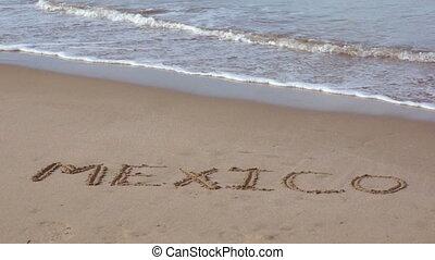 plage tropicale, vacances, mexique
