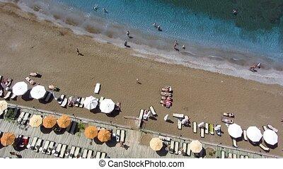 plage, vue aérienne