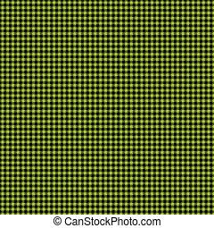 plaid, &, チェッカーの駒, ペーパー, 黒, 緑