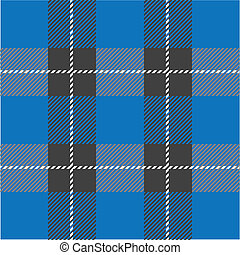 plaid, パターン, 青, seamless, tartan