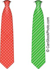 Plaid, checkered silk ties template