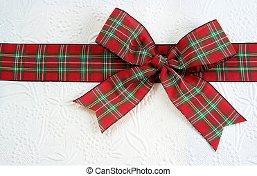 Plaid Christmas Bow