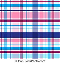 plaid, eps10, pattern., seamless, clair, vecteur