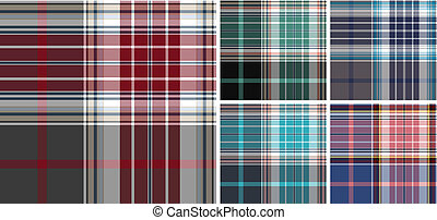 plaid fabric check pattern collection