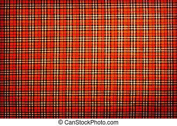 plaid fabric red