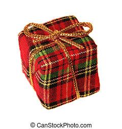 Plaid gift box