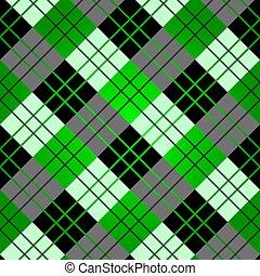 plaid, modello, seamless, verde, scozzese, tartan, tessuto