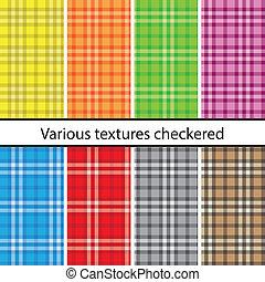Plaid pattern set -  Big plaid pattern set