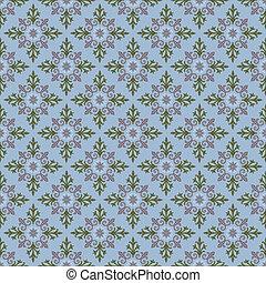 plaid seamless pattern on blue - illustration plaid seamless...