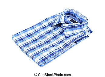 plaid shirt isolated on the white background