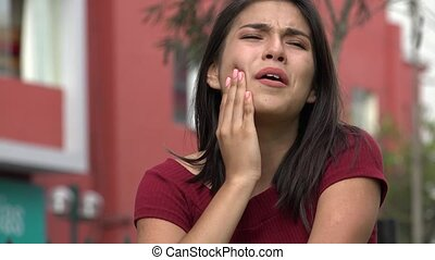 plaie, toothache, ou, dent