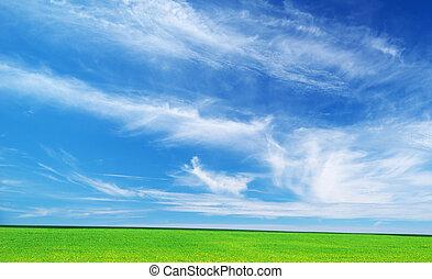 Plain and deep blue sky