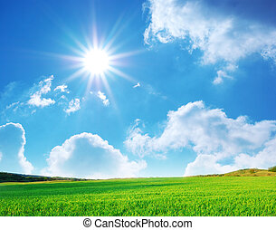 Plain and deep blue sky - Plain and blue sky. Nature...
