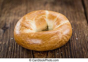 Plain Bagel (selective focus) - Fresh made plain Bagel...