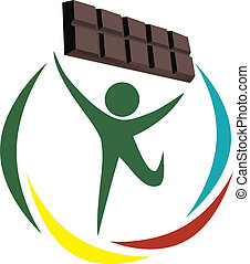 Plain chocolate - Little green man that raises chocolate...