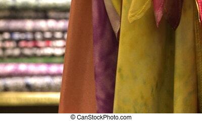 Plain-Coloured Batik Fabrics, KL, Malaysia