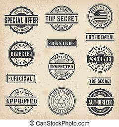 Plain Commercial Stamps Set