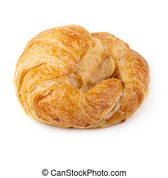 Plain croissant isolated on a white background